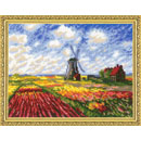 Tulip Fields after C. Monet's Painting