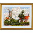 Windmill at Knokke after C. Pissarro's Painting