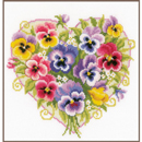 PANSIES IN HEART SHAPE