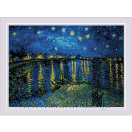 Starry Night Over the Rhone after Van Gogh's Paint