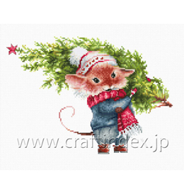 Mouse with fir tree